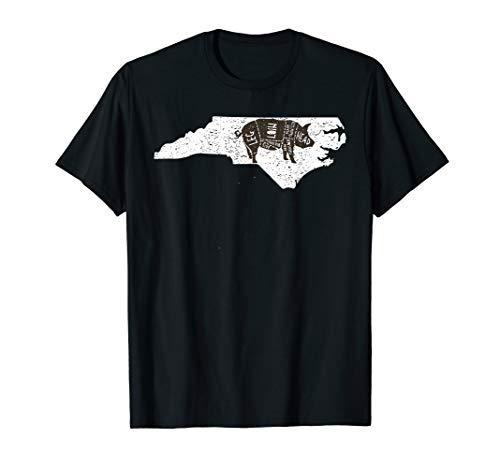 Vintage State of North Carolina Brisket T-shirt BBQ Barbecue