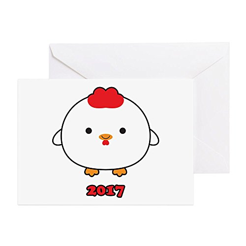 CafePress - Year Of The Rooster 2017 Greeting Cards - Greeti