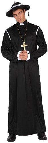 Atosa-12389 Atosa-12389-Disfraz Cura-Adulto XL-Hombre- negro ...