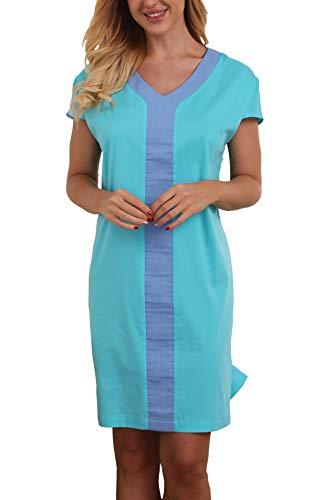 Giorzio Women Plus Size Loungewear Tunic Nightgown Sleepwear Sleepshirt,Green XL