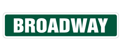 BROADWAY Street Sign new york nyc new show | Indoor/Outdoor |  18