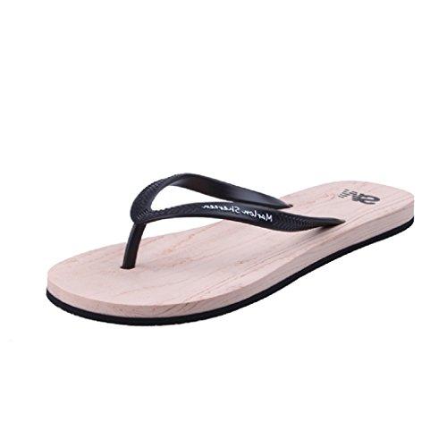 Farbe 3 Schwarz Flip Belloo Sandalen Flops Pantoletten Zehentrenner Damen Beach Strand wwqFgz