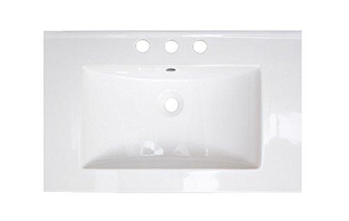 American Imaginations AI-11-385 Ceramic Top for 8-Inch OC Faucet, 24-Inch x 18-Inch, White from American Imaginations
