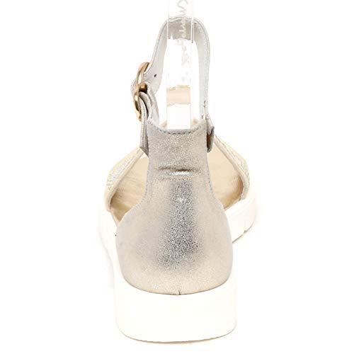Shoe Beige Strass Bimba Argento Sandal Set E8694 Scarpe Twin Beige Girl Silver Sandalo YzR7wP