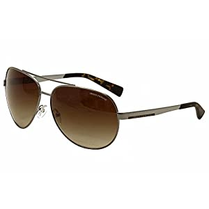 Armani Exchange AX2017S Sunglasses 608513-64 - Gunmetal Frame, Brown Gradient AX2017S-608513-64