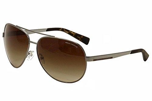 Armani Exchange AX2017S Sunglasses 608513-64 - Gunmetal Frame, Brown Gradient - Armani Ax Exchange Sunglasses