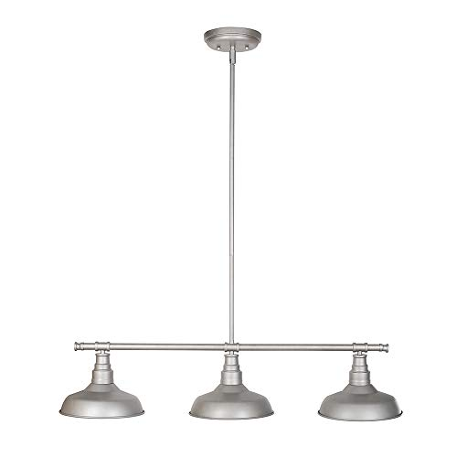 Design House 520379 Kimball 3 Light Pendant, Galvanized Steel Finish