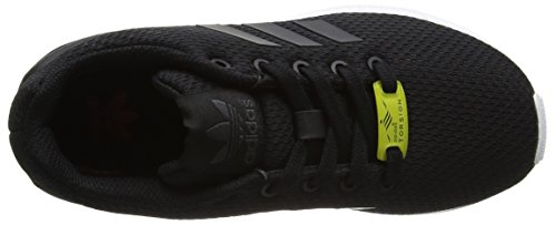 adidas Unisex-Kinder ZX Flux Low-Top Schwarz (Black/Black/Ftwr White)