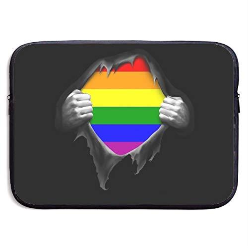 Gay Pride Rainbow LGBT Pull Apart Laptop Sleeve