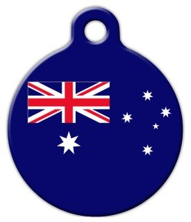 Australia Flag - Custom Pet ID Tag for Dogs and Cats - Dog Tag Art - LARGE - Australia Custom