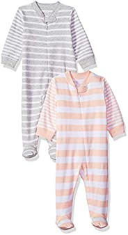 Amazon Essentials boys Cotton Footed Zip-Front Sleep and Play Sleepers