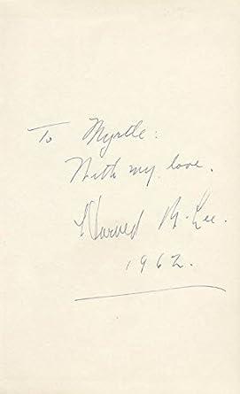 Amazon com: Howard B  Lee - Autograph Note Signed 1962