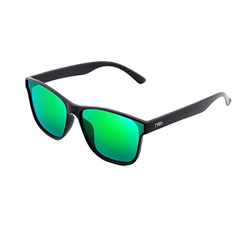 degradadas Gafas espejo Negro sol BRETON Verde mujer de hombre TWIG xrUnfaU
