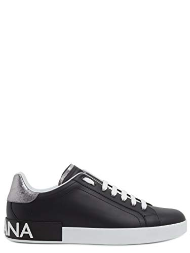Dolce e Gabbana Men's Cs1587ah5278b979 Black Leather Sneakers