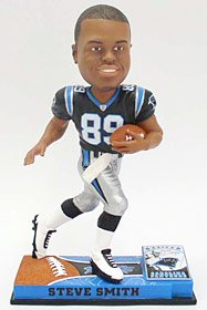 Carolina Panthers Steve Smith Forever Collectibles On Field Bobblehead