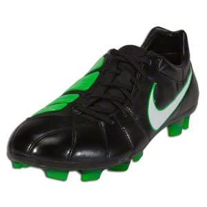 Nike Mens Soccer Cleats TOTAL90 LASER ELITE FG Black/White/Electric Green SZ 7.5