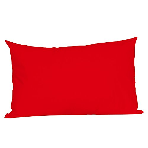 LNGRY Pillow Covers, Contemporary Solid Color Rectangle Cushion Cover Throw Pillow Case Pillowcase Sofa Couch Home Decoration 50x75cm (Red, 50x75cm)
