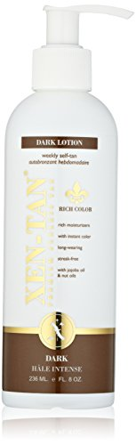 XEN-TAN Dark Lotion Weekly Tan, 8 fl. (Dark Self Tan Lotion)