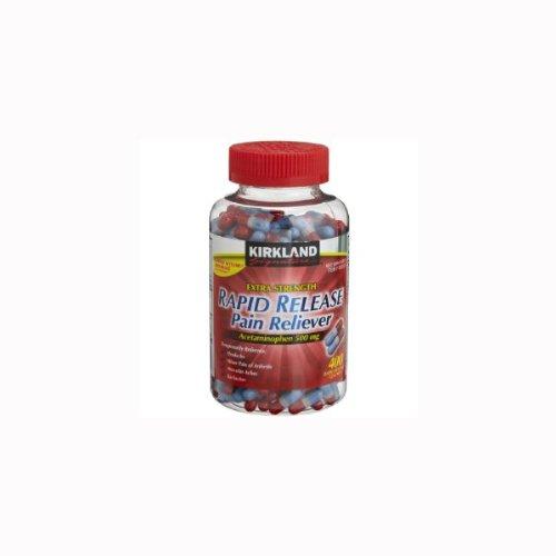 Kirkland Signature Extra Strength Rapid Release Pain Reliever, Acetaminophen 500mg, 400-Count
