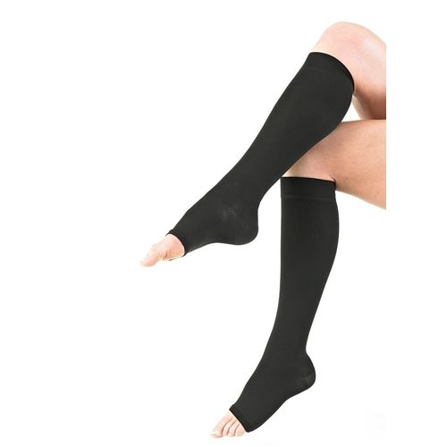 Neo G Medical Grade Compression Hosiery Open Toe Knee High Stockings class 2, 20-30mmHg - Medium-Black by Neo-G B004EY6DZO