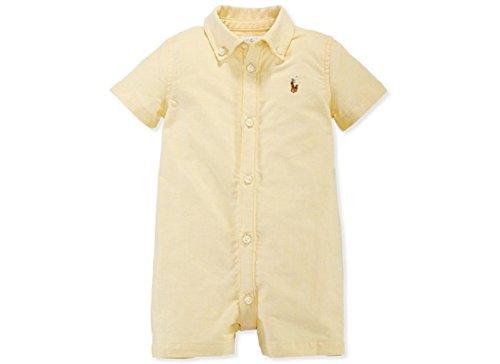 Ralph Lauren Baby Boys Kensington Romper (12 Months, Yellow)
