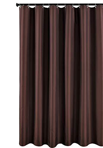 Fabric Shower Curtain Liner, Water Resistant Bathroom Curtain Liner, 72 X 72, Chocolate