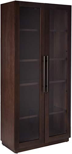 Howard Miller Morrissey - Aged Java Solid Wood Display Cabinet Made in ()