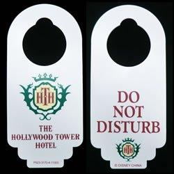 Disney Tower of Terror Hotel (Hollywood Tower Hotel) Do Not Disturb Door Hanger