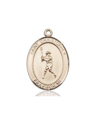 14kt Gold Filled St. Christopher/Baseball Pendant