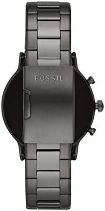 Fossil Gen 5 Carlyle Reloj inteligente con pantalla táctil de acero inoxidable con altavoz, frecuencia cardíaca, GPS, NFC y notificaciones de smartphone 5