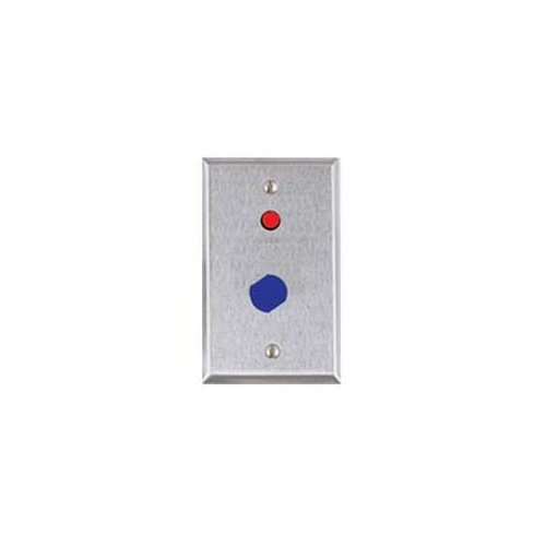 ALARM CONTROLS RP8 REMT PLATE SIGL GANG STN STEEL