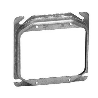 Cooper Crouse-Hinds Crouse-Hinds TP498 Steel 2-Gang Raised Mud Ring 4 Inch x 4 Inch x 1/2 Inch 6 Cubic-Inch