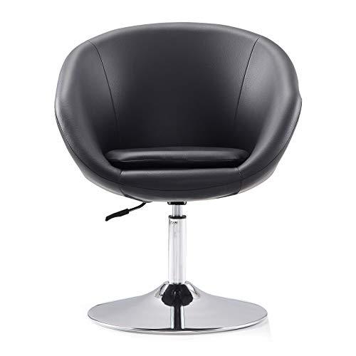 - International Design Barrel Adjustable Swivel Leisure Chair, Black
