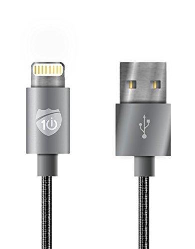 i10 Power Series Apple MFI Certified 6 ft Nylon Braided Ligh