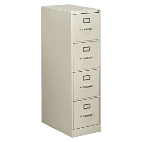 Light Gray Vertical 4 Drawer (Hon 510 Series Ltr-size 4-drawer Vert. File w/Lock-4-Drawer Letter File, Vertical, 15