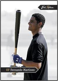 2006 Just Minors JUST ROOKIES Jr-30 Fernando Martinez (NYM - OF) MLB Baseball Trading Card