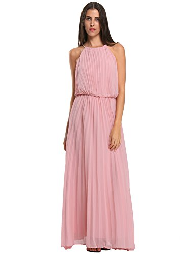 Choies Womens Chiffon Pleated Evening