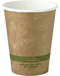 World Centric's 10 Ounce Kraft - Paper Hot Cup with PLA Lining (Case of 1000) by World Centric