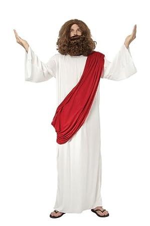 Jesus Fancy Dress Costume Robe Wig u0026 Beard - One Size  sc 1 st  Amazon UK & Jesus Fancy Dress Costume Robe Wig u0026 Beard - One Size: Amazon.co.uk ...