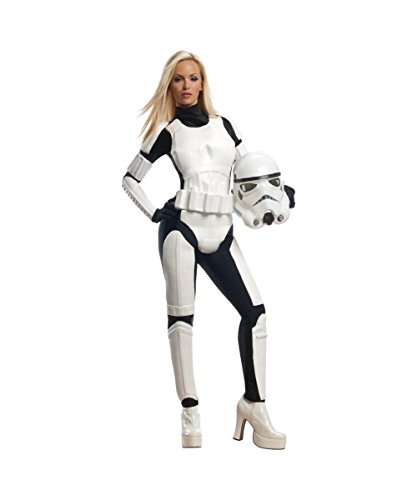 [Star Wars Movie Stormtrooper Womens Halloween Cosplay Costume] (Storm Costume Cosplay)