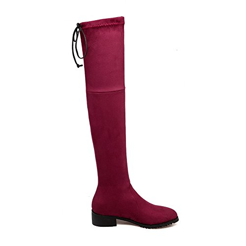 Womens Solid Boots Fleece Pull Polartec BalaMasa On Claret Fashion CwfpZ