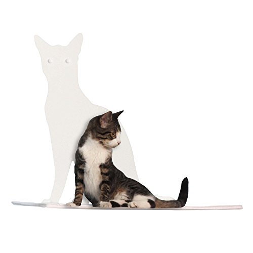 Cat Silhouette Cat Shelves Perch White by Refined Pet Products
