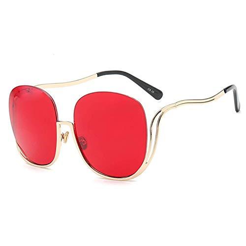 Women Oval Rimless Sunglasses Retro Semi rimless Sun glasses -