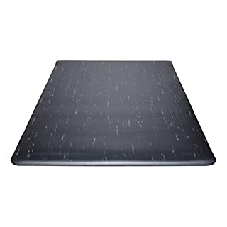 Guardian Marble Top Anti-Fatigue Floor Mat, Vinyl, 3'x5', Black