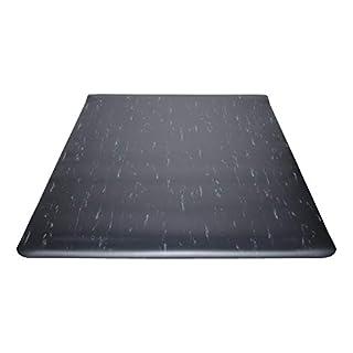 Guardian Marble Top Anti-Fatigue Floor Mat, Vinyl, 3'x5', Black