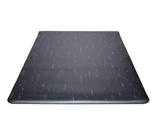 (Guardian Marble Top Anti-Fatigue Floor Mat, Vinyl, 2'x3', Black)
