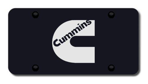 Cummins Laser Etched Logo on Black Plate