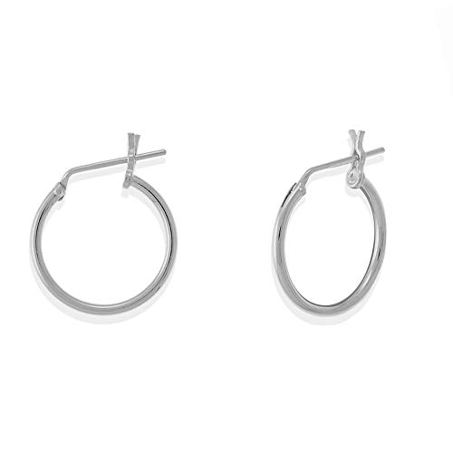 (Boma Jewelry Sterling Silver 1/2 Inch Classic Snap Down Closure Tube Hoop Earrings)