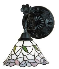 9 in. Daffodil Bell Wall Sconce Daffodil Bell Stained Glass