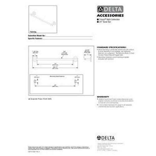 Delta Faucet 759240-CZ Trinsic, 24-Inch Towel Bar, Champagne Bronze by DELTA FAUCET (Image #2)